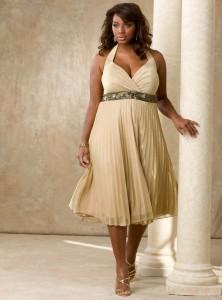 Jasna żółta sukienka duży rozmiar